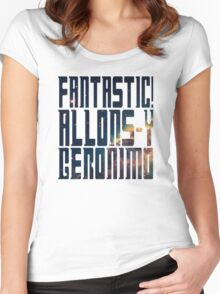 Doctor Who catchphrases - Nebula Women's Fitted Scoop T-Shirt