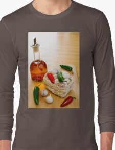 Garlic and Chilli Basket With Oil Long Sleeve T-Shirt