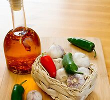 Garlic and Chilli Basket With Oil by MarkUK97