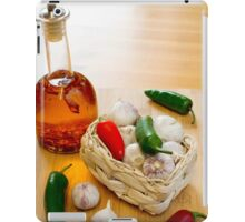 Garlic and Chilli Basket With Oil iPad Case/Skin