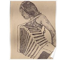 Amanda Playing the Accordion Poster