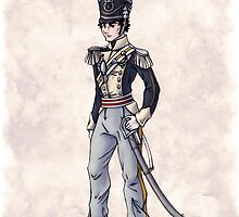Captain Benjamin Shedfield - Regency Fashion Illustration by Shakoriel