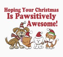 Dogs & Cats Pawsitively Awesome Christmas by FireFoxxy
