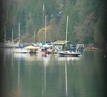 """""""Harbour Reflections"""" - Ganges Harbour, Salt Spring Island by Dawn144"""