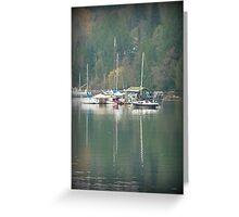 """Harbour Reflections"" - Ganges Harbour, Salt Spring Island Greeting Card"