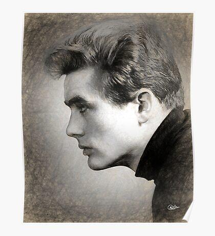 James Dean sketch Poster