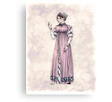 Lady Tabitha Newick - Regency Fashion Illustration Canvas Print