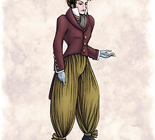 Mr Postumus Enderby - Regency Fashion Illustration by Shakoriel