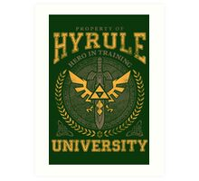 Hyrule University Art Print