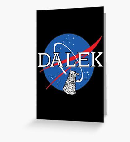 Dalek Space Program Greeting Card