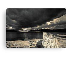 Stormy Lake  (duotone) Canvas Print
