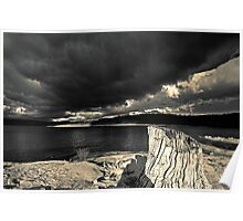 Stormy Lake  (duotone) Poster