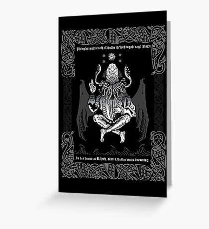 Celtic Cthulhu Greeting Card