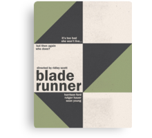 Blade Runner - Minimal Canvas Print