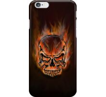 Skull On Fire iPhone Case iPhone Case/Skin