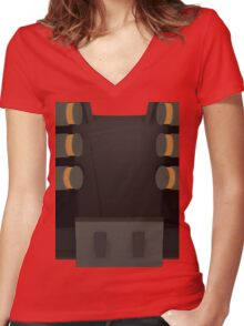 Demoman stomach Women's Fitted V-Neck T-Shirt