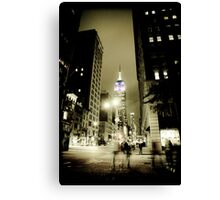 Midnight Ghosts in New York Canvas Print