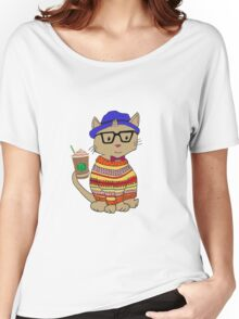 Hipster Kitty  Women's Relaxed Fit T-Shirt