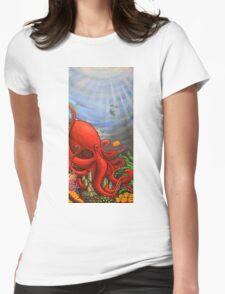 Octopus Garden Womens Fitted T-Shirt