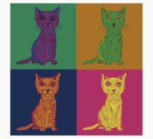 Grumpy and Annoyed Cat Pop Art Baby Tee