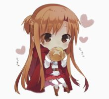 Asuna eating bread by Alysan