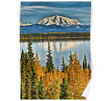 Reflections on Willow Lake of the Wrangell Mountains Poster