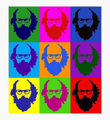 Allen Ginsberg b/w Andy Warhol Photographic Print