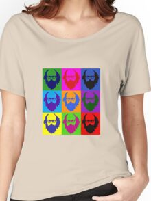 Allen Ginsberg b/w Andy Warhol Women's Relaxed Fit T-Shirt