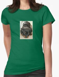 Cute Rottweiler Puppy With Head On Paws T-Shirt