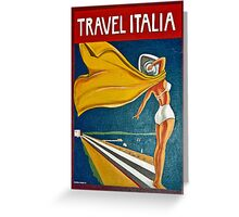 Vintage Italian Travel Poster Greeting Card