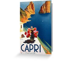 Vintage Italian Travel Poster Greeting Card