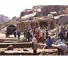 Indian Archaeological Society at work at Hampi Photographic Print