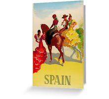Vintage Spanish Poster Greeting Card