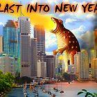 Happy New Year - Fiery Dinosaur   by WendyandMarg