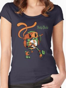 Party Dude Women's Fitted Scoop T-Shirt