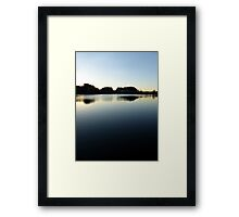 Indian summer sunset at the fishing lake V | waterscape photography Framed Print