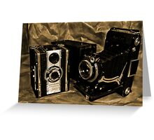 Old Cameras 2 Greeting Card