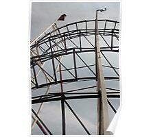 Roller Coaster Track Poster