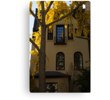 Washington, DC Facades - Dupont Circle Neighborhood in Yellow Canvas Print