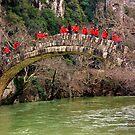 Excursionists crossing Kleidonia bridge by Hercules Milas