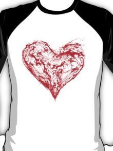 Abstract Red Heart  T-Shirt