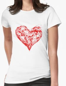 Abstract Red Heart  Womens T-Shirt