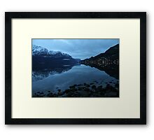November morning twilight. Luster, west coast of Norway. Framed Print