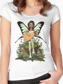 Lullaby Fairy Women's Fitted Scoop T-Shirt