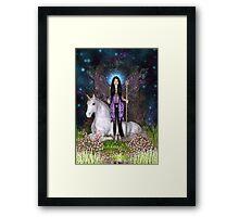 Amethyst Fairy & Unicorn Framed Print