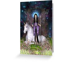 Amethyst Fairy & Unicorn Greeting Card