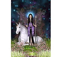Amethyst Fairy & Unicorn Photographic Print