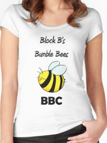 Block B's Bumble Bees Women's Fitted Scoop T-Shirt
