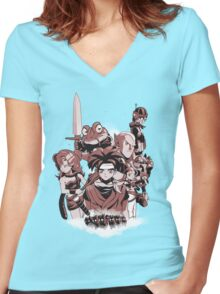 LORD OF THE TIME Women's Fitted V-Neck T-Shirt