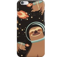 Happy sloth spaceman rocket jet pack iPhone Case/Skin